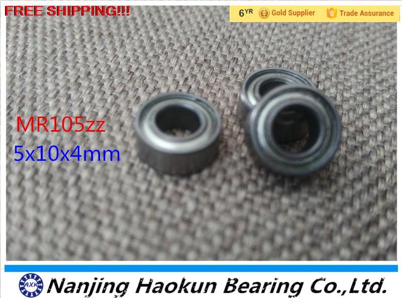 Free ShippingMR105ZZ 5X10X4mm miniature ball bearing 10PCS/LOT mr105zz free shipping 10pcs mr62zz mr63zz mr74zz mr84zz mr104zz mr85zz mr95zz mr105zz mr115zz mr83zz miniature bearing