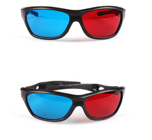 2016 Black Frame Universal 3D Plastic glasses/Oculos/Red Blue Cyan 3D glass Anaglyph 3D Movie Game DVD vision/cinema