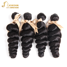 Joedir Hair Weaves 4 Bundles 8-26 Inches Natural Black Color Peruvian Wet Wave Grade 8A Bundles For Beauty Supply Hair Extension
