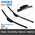 "Wiper blades for Hyundai I10 (from 2008 Onwards ) 22""+16"" fit standard J hook wiper arms only HY-002."