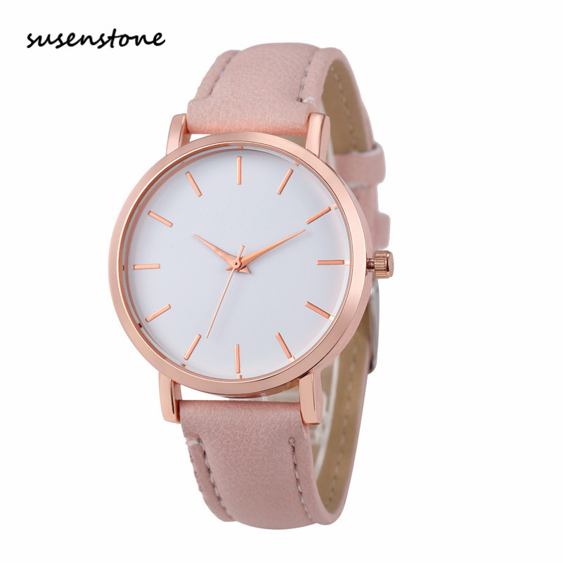 Susenstone 2018 fashion women watch luxury brand women casual wrist watch ladies quartz watch for Celebrity watches female 2018