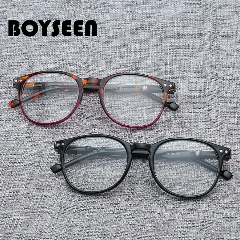BOYSEEN Comfy Ultra Light Reading <font><b>Glasses</b></font> Presbyopia <font><b>1.0</b></font> 1.5 2.0 2.5 3.0 3.5 4.0 Diopter 201888 image