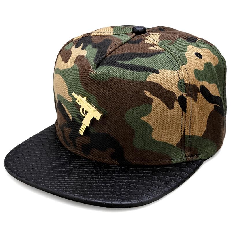 5645ef4054f28 NYUK Fashion Snapback Gorras Hip Hop Baseball Hats Cool Submachine Gun Logo  Cotton Adjustable Cap Casquette Punk Style Men Women