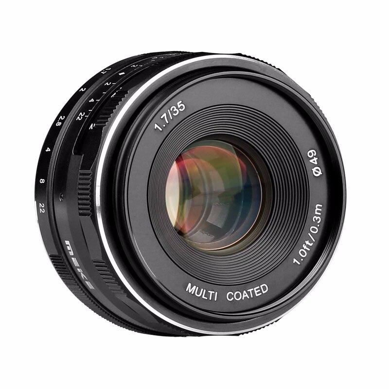 Meike MK-EF-M-35-1.7 35mm f1.7 objectif de mise au point manuelle à grande ouverture EF-M APS-C de montage pour Canon pour EOS M1 M2 M3