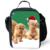 2016 Sacos de Almoço de Presente de Natal para Crianças Lunchbox Picnic Food Bolsa Térmica Lancheira Infantil Berçário Bonito Vermelho