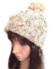 100% ручной работы мода женщин зима теплая вязаная шапка шляпа