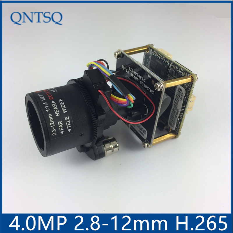 XMeye 2.7-12mm Autozoom 4.0MP (2592*1520)H.265/H.264 IP Camera,Sony OV4689+HI3516D CMOS IP Camera Module,IP PCB board DWDR+ONVIF