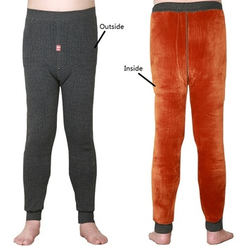 2018 new Men Thermal underwear pants Very thick fleece leggings wear in very cold days Winter trousers more than 520g 1