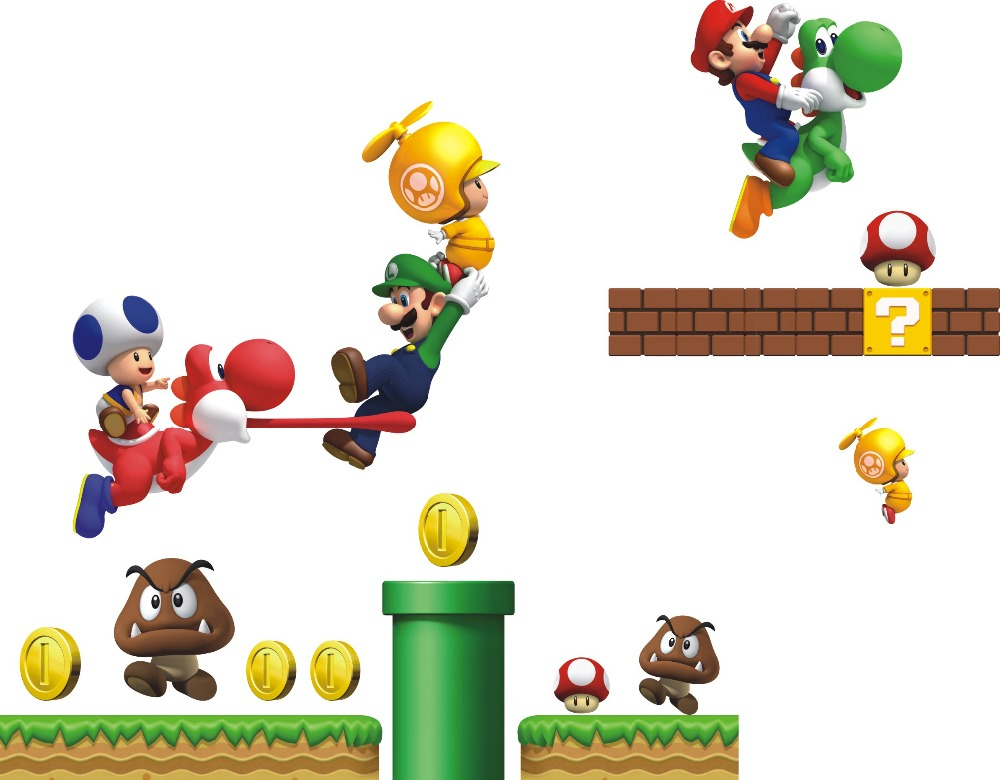 Mario Brothers Room Wall Stickers