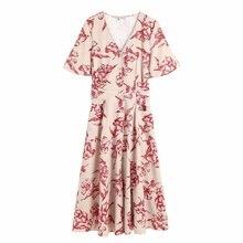 1981-62-9677 европейские и американские модные платья с цветочным принтом