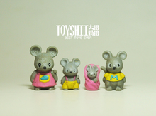 mini pvc figure mouse family model 4pcs/set