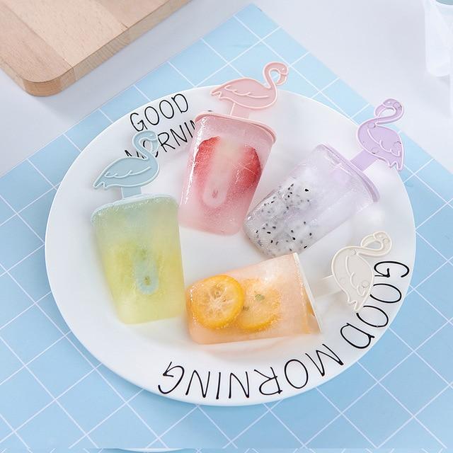 Форма для мороженого с палочки с Фламинго лоток для льда Форма для шоколада DIY Инструменты для мороженого для детей лето дропшиппинг