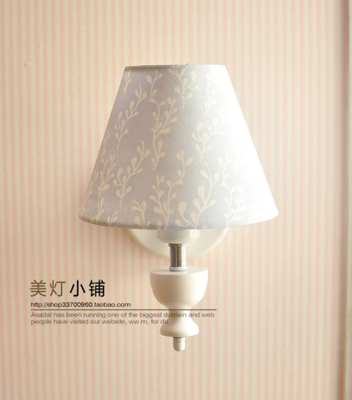 Floor lamp simple European French countryside retro mash Nordic bedroom bedside lamp Decoration
