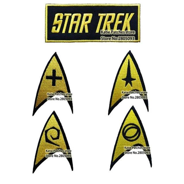 12pcs movie star trek logo embroidered iron on patch movie text