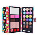 1pc 18 Colors Eyeshadow+Pressed Powder Blusher+Brow Powder+Lip Gloss+Mirror+Brush Combination Practical Cosmetic Palette Set
