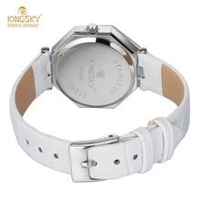 Kingsky Brand Women Watches Fashion Leather Wristwatch Ladies Luxury Brand Famous Quartz Watch Women Clock Relogio Feminino