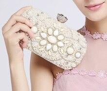 Perlen Blume Luxus Kristall Kupplung Taschen Bling Strass Abendtaschen Gold Frauen Abend Kupplung SC047 SMYCWL-A0017