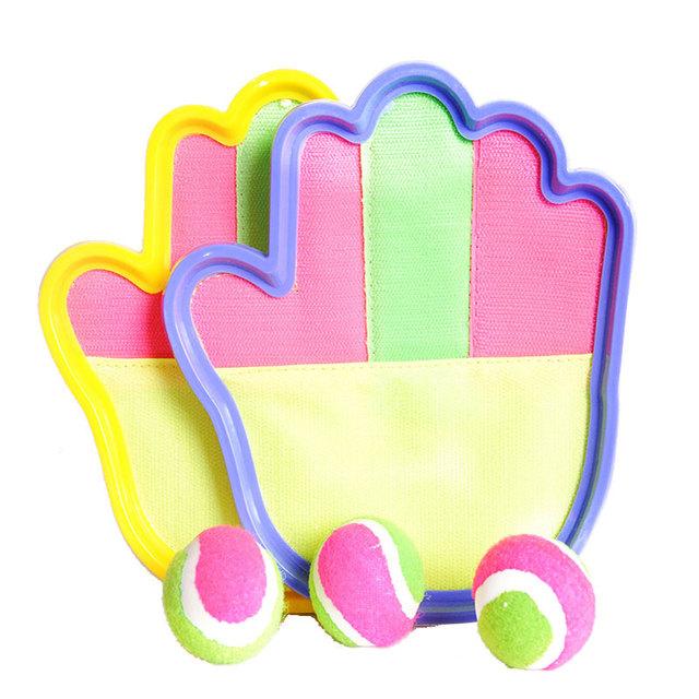 Forma mão crianças otário pegajoso jogar bola bastão de plástico esportes ao ar livre pai-filho interativo crianças toys para crianças para crianças meninos