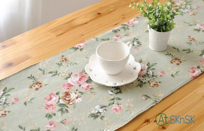 1 шт. multi размер Мода кисточкой Узел кофе скатерть для украшения дома с цветочным принтом из хлопка и льна Blended Таблица флаг