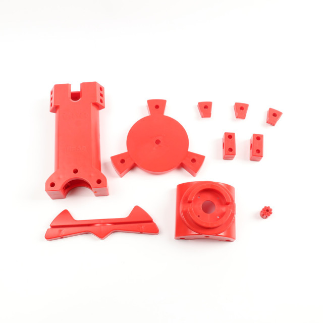 HE3D Open source DIY 3D scanner kit ,advanced laser scanner Red plastic injection molding parts 5