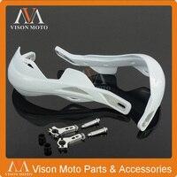 White Handlebar Brush Hand Guards Handguards For Bosuer KAYO Apollo Xmoto Motorcycle Supermoto Off Road Racing