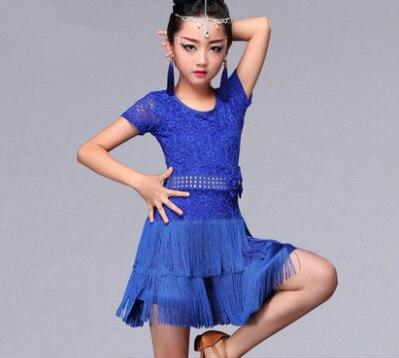 Latin Fringe Dress Sexy Ballroom Latin Salsa Dance Dress Clothes Samba Dance Costume Kids Child Latin Dance Dress For Girls