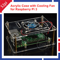 Acrylic Clear Case Enclosure Shell With Cooling Fan For Raspberry Pi 3 Model B Raspberry Pi