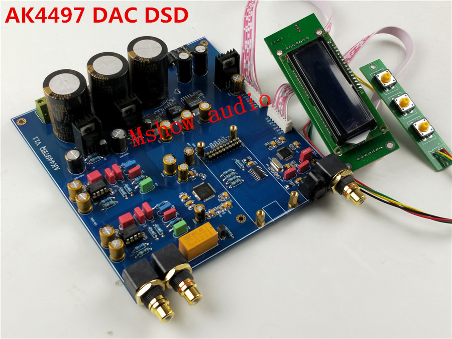 2017 NEW HIFI AK4497 Digital audio decoder preamp DAC supports DSD upgrade AK4495SEQ option XMOS XU208