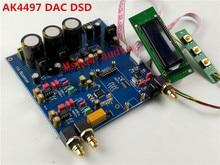 2017 YENI HIFI AK4497 Dijital ses şifre çözücü preamp DAC destekler DSD yükseltme AK4495SEQ seçeneği XMOS XU208 USB veya Amanero