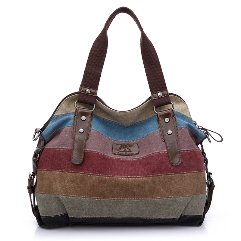 2018 Fashion Leisure Women's Travel Canvas Handbags High Quality Shoulder Bags Designer Totes Casual Messenger Large Bag casual canvas women men satchel shoulder bags high quality crossbody messenger bags men military travel bag business leisure bag