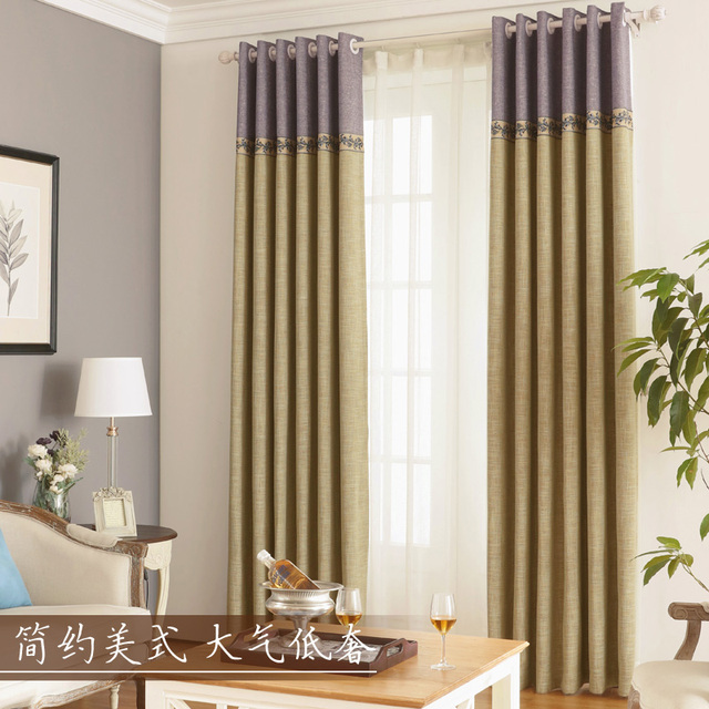 Thick Blackout Curtains Bedroom Cotton Linen Thermal Window Drapes ...