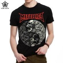 Punk Youth Men's 3D Printing Metallica T-Shirt 100% Cotton Men's Short Sleeve Summer Casual PUNK ROCK T Shirts Men T-Shirt