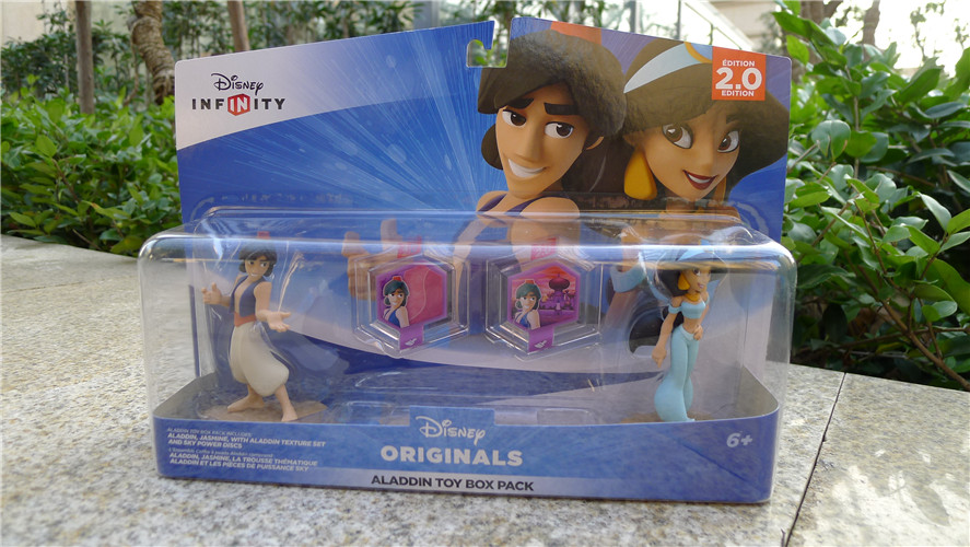 TT03-- Infinity 2.0 Edition Aladdin Toy Box Pack Aladdin & Jasmine 2pcs Figures Set Toy Game Accessories New original aladdin and the magic lamp action figures toy aladdin jasmine princess model doll