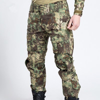 Frog Camouflage Military Pants Men Combat Trousers Men Clothing Outdoor Multi Pocket Breathable US Tactical Army