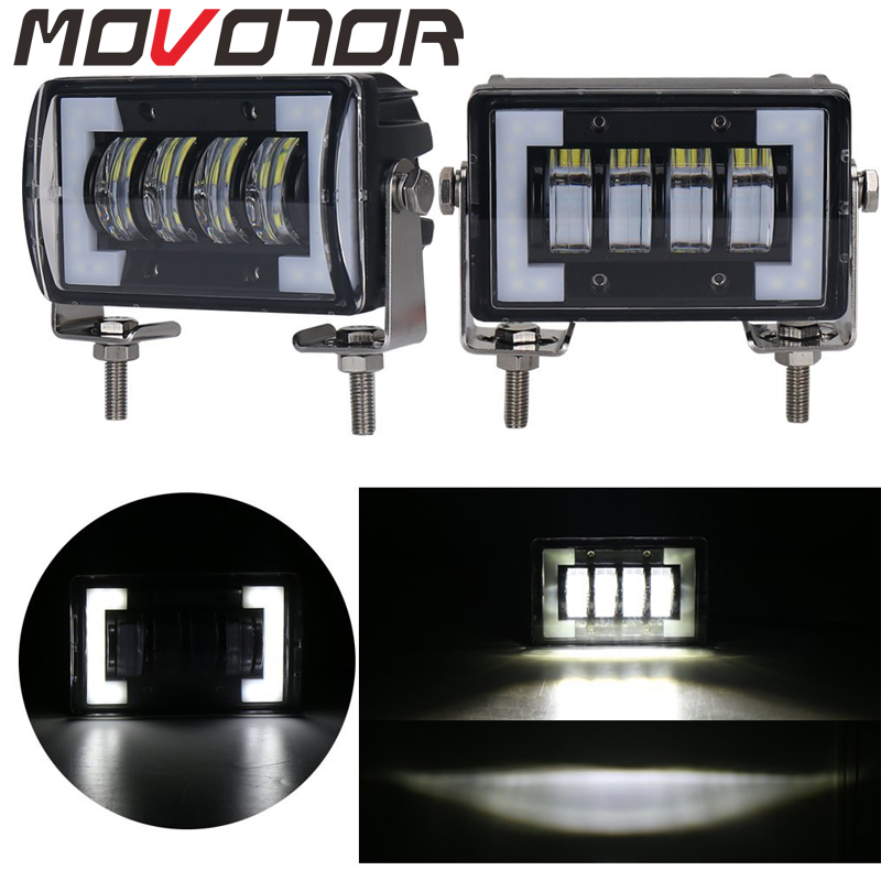 MOVOTOR Offroad 5.5 LED Spotlight 24W PICKUP DRIVING LED LAMP Wrangler Light White DRL for CAR TRUCK SUV BOAT ATV 4X4 4WD 2Pcs