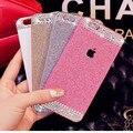 Caja del teléfono, 5s DIY bling bling de lujo CZ diamond caso claro cristal duro volver cubierta brillo del polvo para el iPhone 5 iPhone 5S