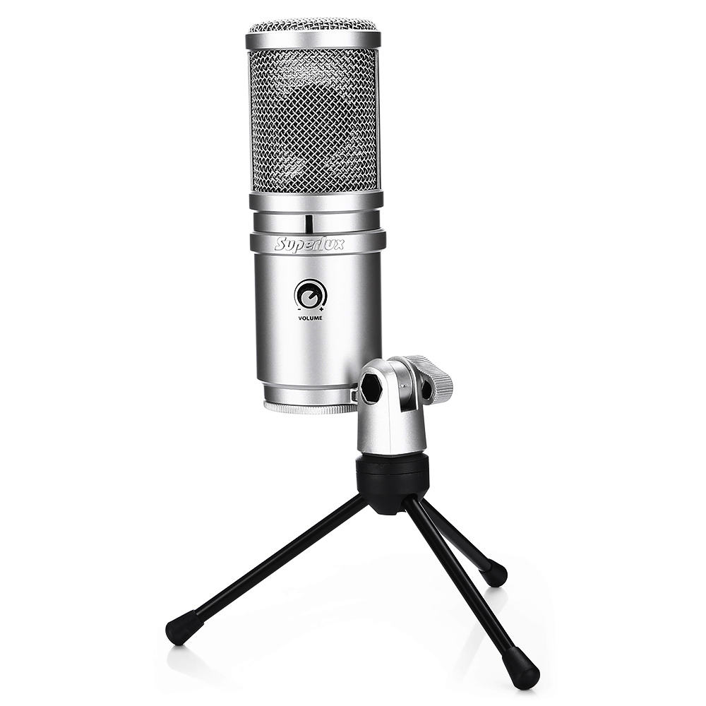 High Quality E205U USB studio microphone Condenser professional microphone for broadcasting and recording with table stand