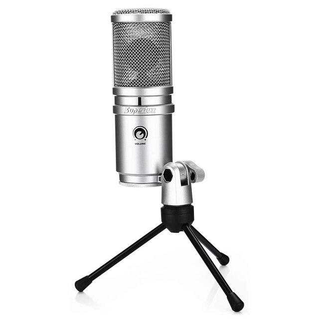 Высокое качество E205U USB Студийный микрофон конденсаторный профессиональный микрофон для вещания и записи с Настольный Штатив