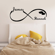 Personalized Custom Name Lovers Wall Sticker Art For Bedroom Decor Stickers Murals Adesivo De Parede Together Forever