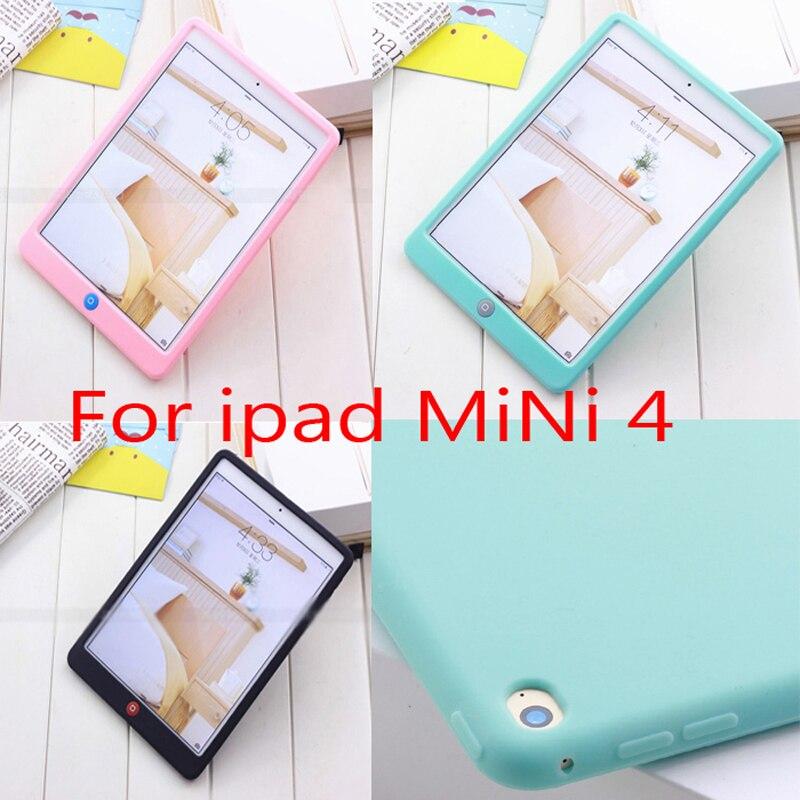 For ipad mini 4 Jelly Bean Cute Smart Soft Silicone Rubber Protective Case For ipad Mini 4 Children Soft Silicone Case