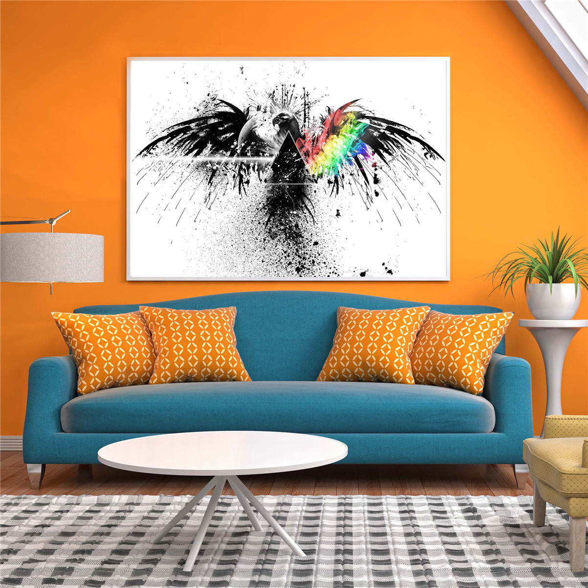 Wall Decor Canvas Pictures Wall Art Home Decoration Canvas Painting for Living Room Abstract Eagle Poster Black and White