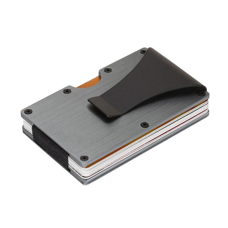 Minimalis Schlanke Brieftasche RFID Sperrung Kreditkarten Halter Front Pocket Wallet für Männer und Frauen Mit Geld Clamp