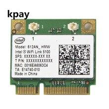 Intel 5100 512an_hmw 가 장착 된 무선 wi fi 네트워크 카드 어댑터 (절반 미니 pci e 포함) 802.11a/g/n 듀얼 밴드 300 mbps (노트북 용)