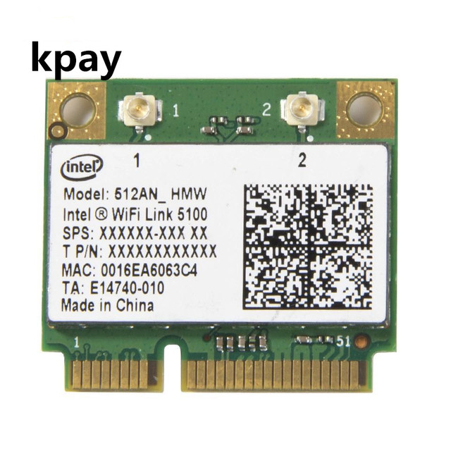 Kablosuz Wi Fi Ağ Kartı Adaptörü Ile Intel 5100 512AN_HMW Yarım Mini PCI E 802.11a/g/n Dual Band 300 Mbps Dizüstü Bilgisayar