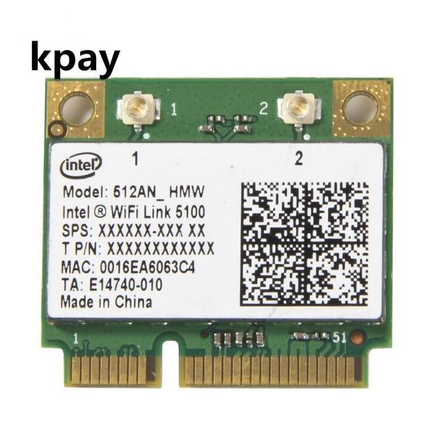Беспроводная Wi Fi сетевая карта адаптер с Intel 5100 512AN_HMW с полумини PCI E 802.11a/g/n двухдиапазонный 300 Мбит/с для ноутбука