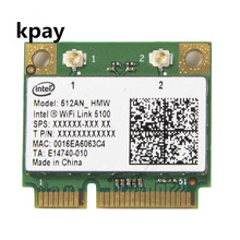 Wireless Wi-Fi Network Card Adapter With Intel 5100 512AN_HMW with Half Mini PCI-E 802.11a/g/n Dual Band 300Mbps For Laptop
