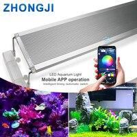ZHONGJI Marine Aquarium Light Bracket RGB LED Lamp For Aquarium LED Lighting Fish Tank LED Lights Aquarium Lamp 30CM 60CM 70CM