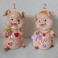Silica gel silicone mold Valentine 's Day Animal Pigs Crafts Bedroom candle mould Decoration Fashion Couples Wedding Gifts molds