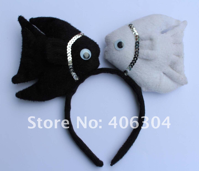 Короткий плюш, Детский Взрослый два уважаемых ободок в форсе рыбы, для пасхальное украшение, вечерние/Детские повязки на голову(4 цвета
