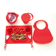Children Tableware Set Baby Plate Silicone Dishes Bowl Feeding Utensil Spoon Fork Travel Safe Case Toddler Kid Training